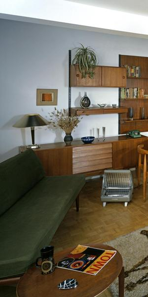 A living room in 1965 - one of the 'Rooms Through Time' at the Museum of the Home.  Courtesy of Chris Ridley