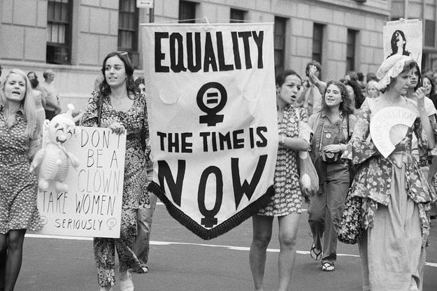 Women's Liberation Parade on Fifth Avenue in Manhattan, August 1971