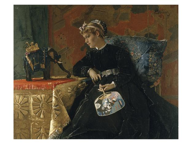 "Alfred Stevens, ""Bibelot exotique,"" 19th century"