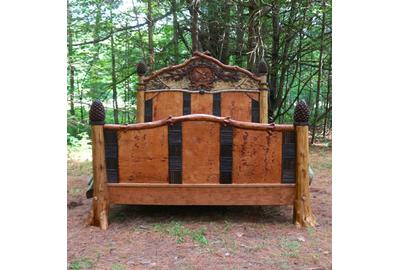 See handcrafted rustic furniture and furnishings like this bed by L.  Post Rustics at the 28th Annual Rustic Furniture Fair on Saturday and Sunday, Sept.  12 and 13, at the Adirondack Museum in Blue Mountain Lake, N.Y.