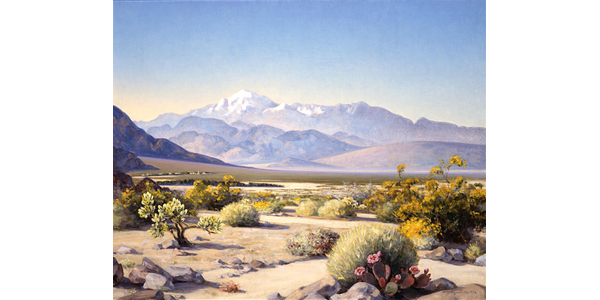 Agnes Pelton, San Gorgonio in Spring, 1932.  Oil on canvas, 24 x 30 in.  The Buck Collection at UCI Institute and Museum of California Art.