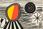 Alexander Calder (1898-1976) Sol y Sombra, 1969 Gouache and ink on Canson paper 29 1/2 x 43 inches