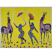 The first three lots of the auction are lovely and charming daily sketch paintings by Uganda-born Cleveland artist Algesa O'Sickey (1917-2006), all modestly estimated.  One is shown here.