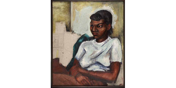 Charles Alston (American 1907-1977), Portrait of Girl, 1940.  The Kinsey African American Art & History Collection.