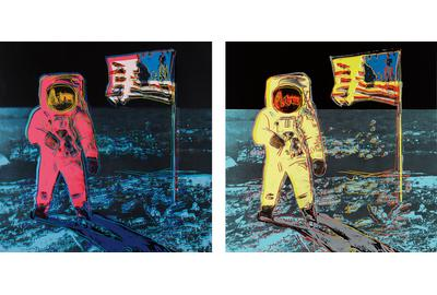 "Andy Warhol's ""Moonwalk"", 1987 (estimated at $200,000 - $300,000) is one of the highlights from Phillips' upcoming Evening Editions auction, with online bidding available on Invaluable.com."