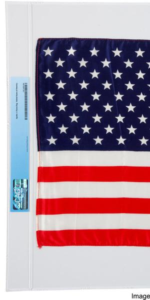 The Largest Size American Flag, measuring 17-3/4 inches by 11-1/2 inches, Armstrong kept as a treasured Apollo 11 souvenir, sold for $275,000.