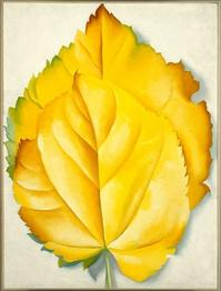 """Yellow Leaves,"" a 1928 painting by Georgia O'Keeffe."
