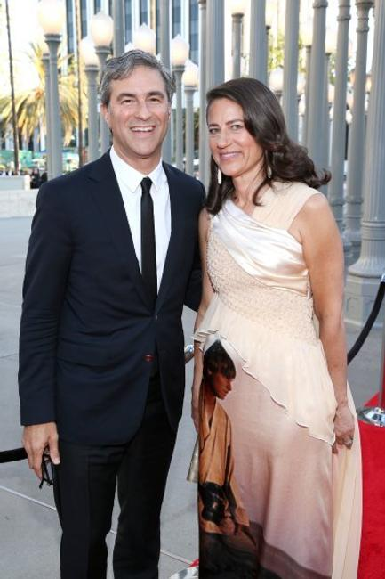 LACMA Museum Director Michael Govan (L) and Katherine Ross attend LACMA's 50th Anniversary Gala sponsored by Christies at LACMA on April 18, 2015 in Los Angeles, California.