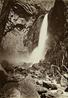Carleton Watkins (U.S.A., 1829–1916), The Lower Yosemite Fall, Yosemite, 1865–1866, from the album Photographs of the Yosemite Valley.  Albumen print.  Lent by Department of Special Collections, Stanford University Libraries.