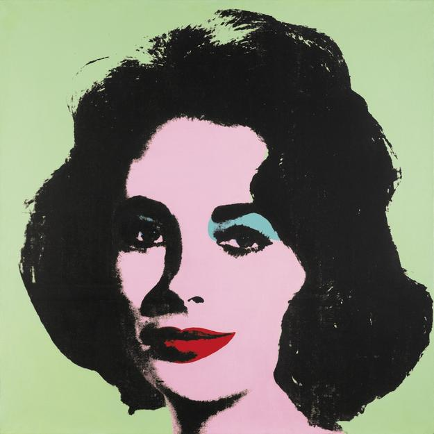 Andy Warhol.  Liz #3 [Early Colored Liz] , 1963.  The Stefan T.  Edlis Collection, Partial and Promised Gift to the Art Institute of Chicago.