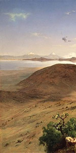 José María Velasco (1840–1912), Valle de México (The Valley of Mexico), 1877, oil on canvas, 63 3/16 × 90 7/16 in.  Museo Nacional de Arte, INBA, Mexico City, SIGROPAM 24433.  Reproduction authorized by the National Institute of Fine Arts and Literature, 2016.
