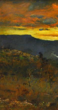 "This newly discovered painting by Elliot Daingerfield titled ""Twilight,"" will be offered at Clars on Sunday April 17th for $6,000 to $9,000."