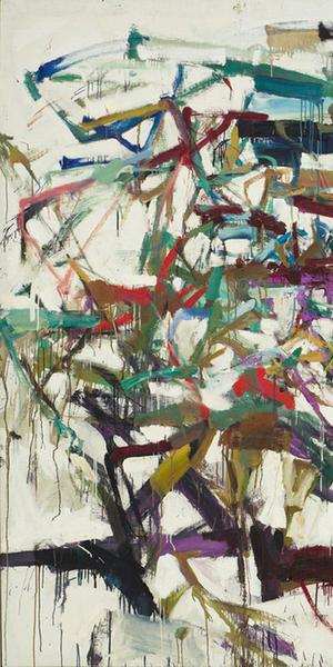 "Joan Mitchell, (American 1925-1992).  Ladybug, 1957.  Oil on canvas, 6' 5 7/8"" x 9' (197.9 x 274 cm).  The Museum of Modern Art, New York.  Purchase, 1961."