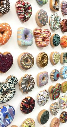 "JAE YONG KIM ""Pop Goes The Donut"" installation (detail)"