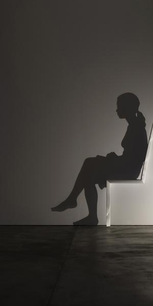 Yamashite Chair, part of National Portrait Gallery's 'Black Out: Silhouettes Then and Now' exhibition.