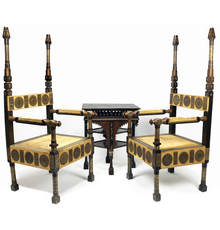 Some of the Carlo Bugatti furniture to be auctioned
