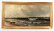 Oil on canvas maritime painting by the noted Hudson River School artist Alfred Bricher (Am., 1837-1908), signed lower right (est.  $10,000-$15,000).