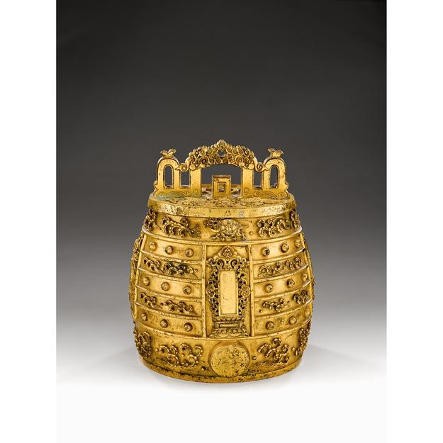Invaluable offers online bidding on this rare Chinese gilt bronze ritual bell dating back to the Qianlong period, which is estimated to realize $100,000 - $150,000 in Freeman's Asian Art auction on March 14, 2015.