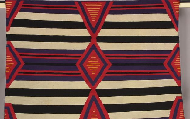 Third Phase Navajo Chief's Blanket.  Bruce Museum Collection 68.25.05.