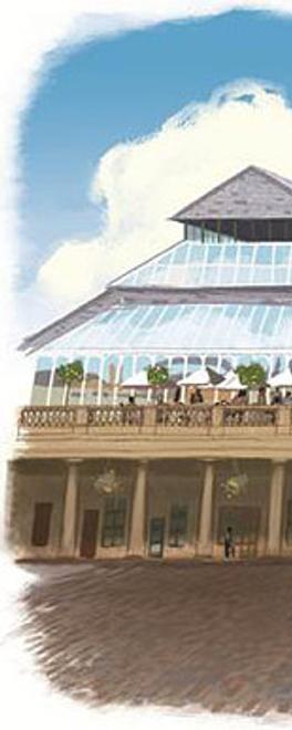Rendering of Alex Chinneck's Covent Garden project.