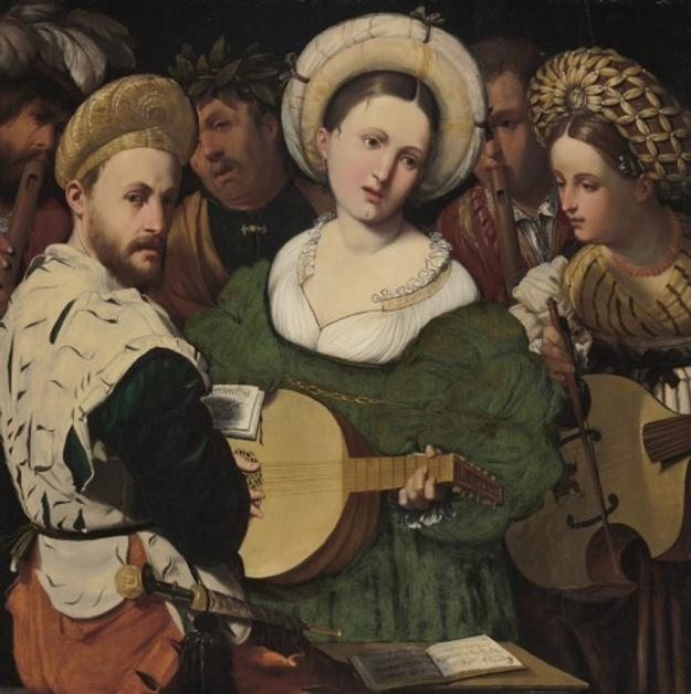Musical Group, 1520s.  Callisto Piazza (Calisto de la Piaza da Lodi), Italian (active Lodi and Brescia), c.  1500 1561/62.  Oil on panel, 35 5/8 x 35 3/4 inches.  Philadelphia Museum of Art, John G.  Johnson Collection, 1917.