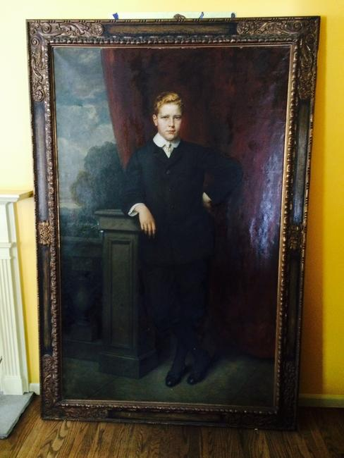 This important life-size portrait painting by the German artist Georg Papperitz (1846-1918), depicting William Austin, Jr.'s uncle John E.  DuPont, will be sold at auction on Feb.  28th.
