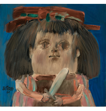 Fernando Botero (Colombian, b.  1932), Niña, 1961, Signed and dated, Oil on canvas, 29 x 30 inches (73.7 x 76.2 cm).  Est.  $175,000-225,000.
