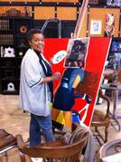 Bernice Appelin-Williams in her studio