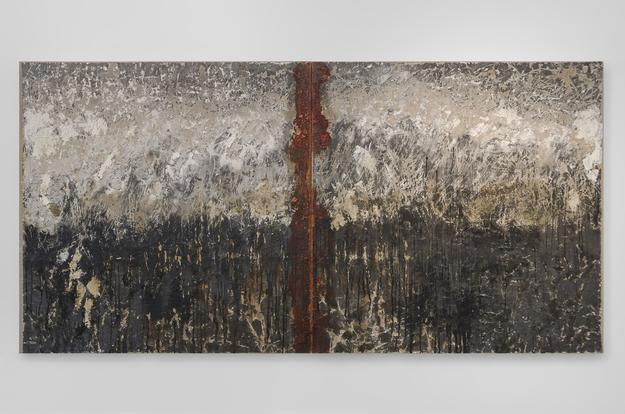 "Diane Silver, ""Baptism"", 48x96 in, Mixed Media, 2015"