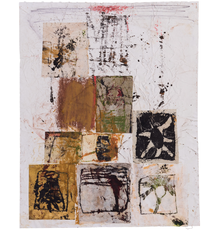 Hannelore Baron (1926-1987), Untitled (C83138), 1983, mixed media collage with paper, ink, pastel and monoprint, 10 1/2 x 8 1/2 inches / 26.7 x 21.6 cm, signed