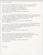 Bob Dylan's signed, handwritten lyrics to his iconic song Like a Rolling Stone, voted the #1 rock 'n' roll song of all time by Rolling Stone magazine readers in 2004 (est.  $50,000-$60,000).