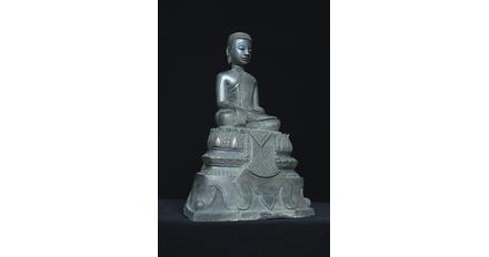 Buddha, Silver Repoussé, dated by inscription to 1920