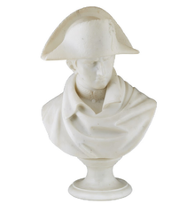 Carved white marble bust of Napoleon from the 19th century, 20 ½ inches tall (est.  $1,000-$2,000).
