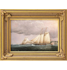 Portrait of the schooner yacht Palmer by J.E.  Buttersworth, part of Eldred's Marine Sale