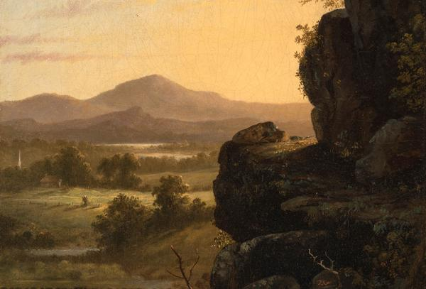 Thomas Cole (1801-1848), Scene in the Catskills, circa 1830-40s.  Est.  $30,000-50,000.