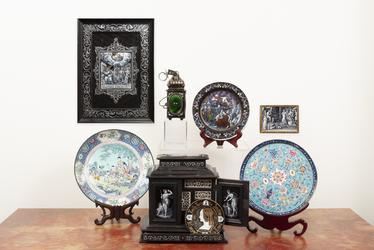 A selection of exquisite French and Chinese enamels will be offered during the April 17 Spring Gallery Auction at Selkirk (St Louis).