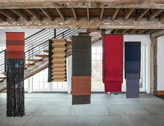 Woven textiles by Carolina Yrarrázaval, 2001-2009 (photo by Tom Grotta)