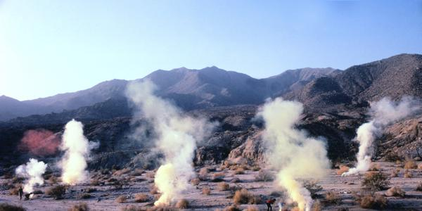 Judy Chicago, Desert Atmosphere, Palm Desert, CA, 1969/2020, 30 x 40 inches, Collection of the Nevada Museum of Art, Center for Art + Environment Archive Collections