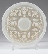 Chinese Grayish-White Jade Cup Stand, 20th Century