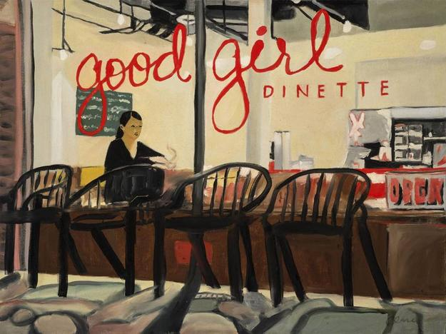 Clare Holzer, Good Girl Dinette, Oil on Canvas, 18'' x 24''