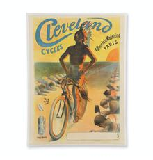 1898 French advertising poster for Cleveland Cycles (Toledo, Ohio), with artwork by Jean Pal de Paleologue, made just prior to the crash of the worldwide bicycle boom (est.  CA$4,000-$6,000).
