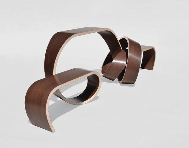 "Kino Guerin's ""Knotted Table,"" laminated with a vacuum press.  http://www.KinoGuerin.com"