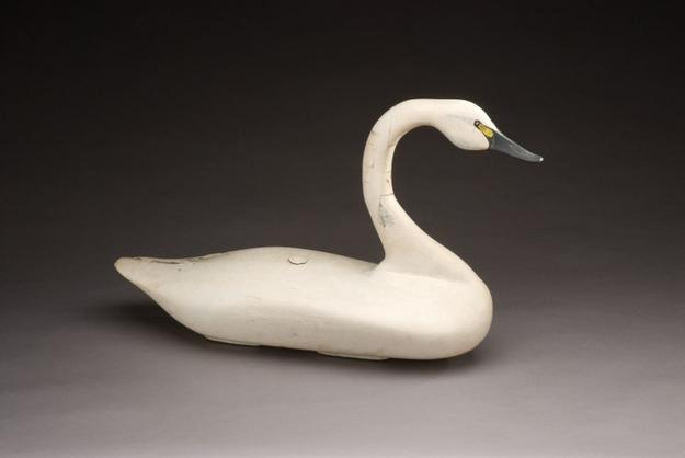 "Swan by John ""Daddy"" Holly (1819-1892) or James T.  Holly (1855-1935), Havre de Grace, MD, c.  1900 ($150/200,000)"