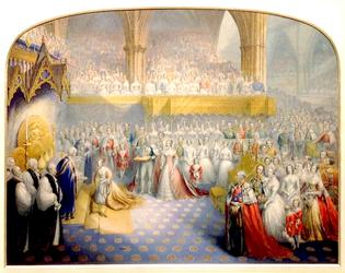 The Coronation of Queen Victoria.