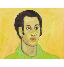 Beauford Delaney (1901–1979), Portrait of Bernard Hassell (detail), c.1968, oil on canvas, 25 1/2 x 21 1/4 inches / 64.8 x 54 cm, signed, © Estate of Beauford Delaney by permission of Derek L.  Spratley, Esquire, Court Appointed Administrator