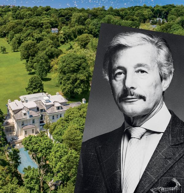Oleg Cassini and Moorelands, his residence in Oyster Bay Cove, Long Island.