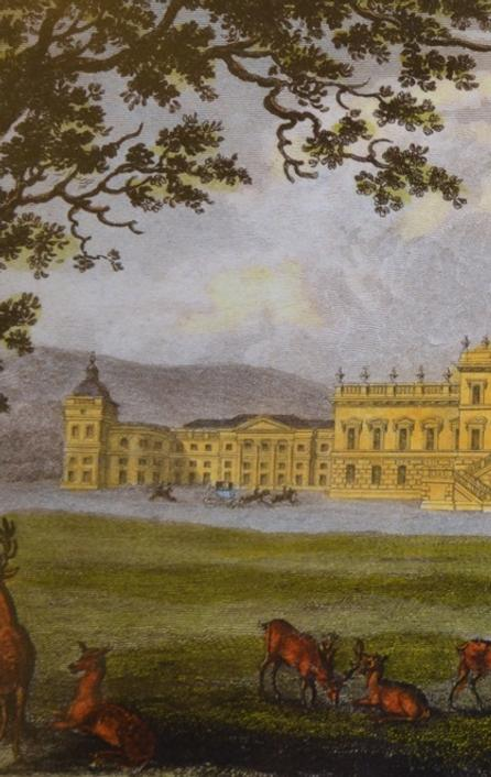 Photo credit: Colored engraving of Wentworth Woodhouse by Nathaniel Whittock, ca.  1840