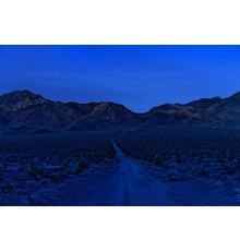 Sim Chi Yin (Singaporean, b.  1978), Mountain range surrounding the Nevada Test Site, November 2017.  Archival pigment print.  From the series Most People Were Silent.  Harvard Art Museums/Fogg Museum, Richard and Ronay Menschel Fund for the Acquisition of Photographs, 2020.181.  Artwork: © Sim Chi Yin; image courtesy of the artist.