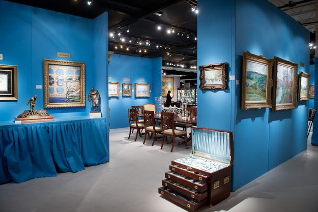 M.S.Rau Antiques Booth at the 2012 DALLAS International Art, Antique & Jewelry Show