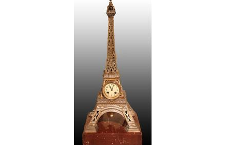 Eiffel Tower mantel clock by Japy Frères, French, c1890, £8,450 from Richard Price